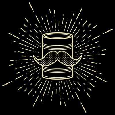 Tin Can Brothers Mustache Can Yellow T-shirt