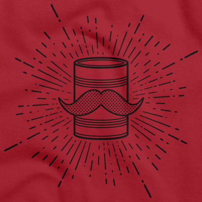 Tin Can Brothers Mustache Can Black T-shirt