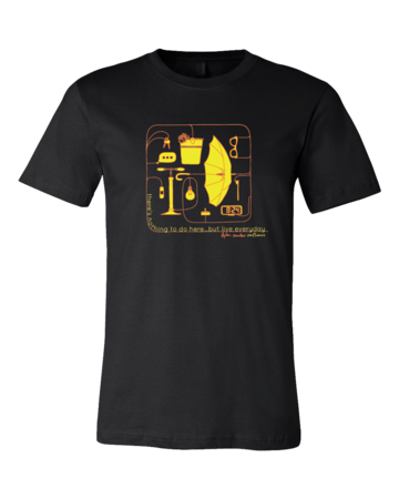 Dylan Saunders: Confluence T-shirt Standard Black Blank with Depth Front