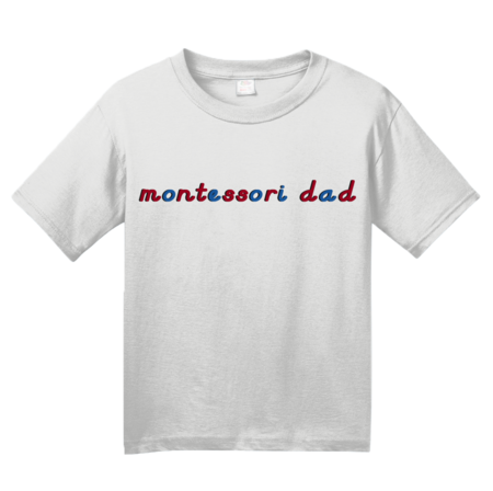 Montessori Dad Youth White Blank with Depth