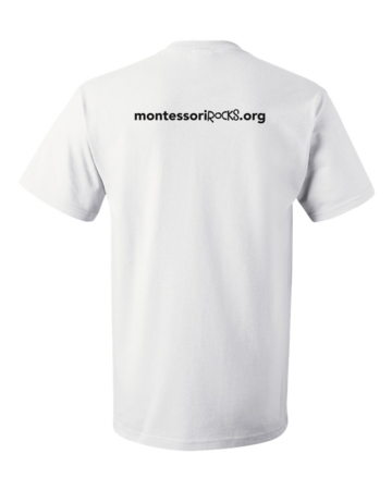 Montessori Dad Unisex White Blank with Depth
