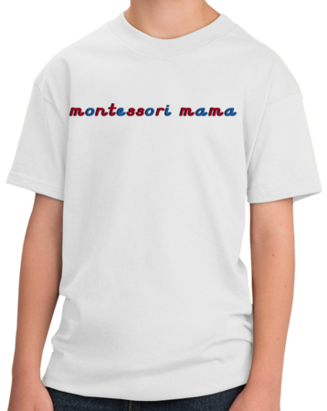 Montessori Mama Youth White Stock Model Front 1 Thumb