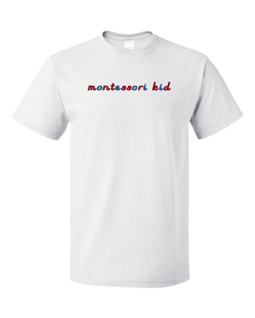 Montessori Kid Unisex White Blank with Depth