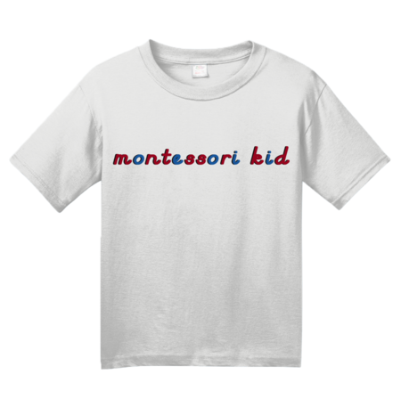 Montessori Kid Youth White Blank with Depth