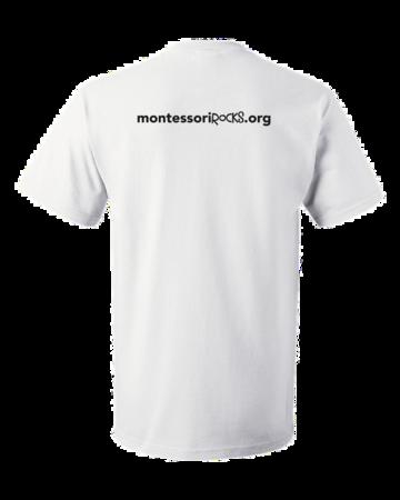 Montessori Rocks Unisex White Blank with Depth