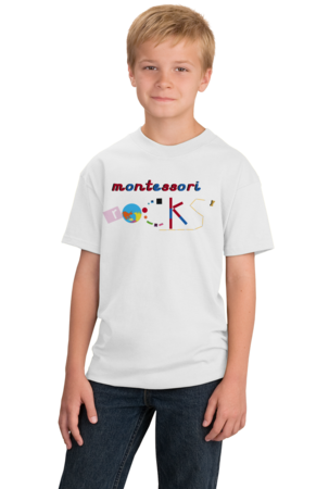 Montessori Rocks Youth White Stock Model Front 1
