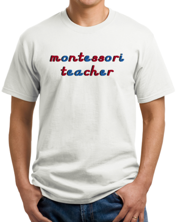 Montessori Teacher Unisex White Stock Model Front 1 Thumb
