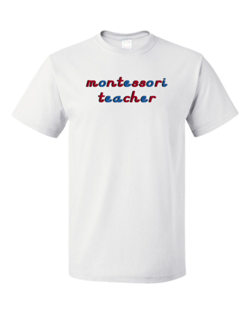 Montessori Teacher Unisex White Blank with Depth
