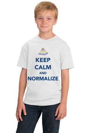 Keep Calm and Normalize Youth White Stock Model Front 1