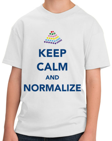 Keep Calm and Normalize Youth White Stock Model Front 1 Thumb