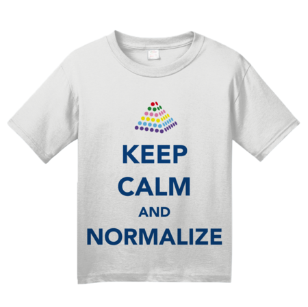Keep Calm and Normalize Youth White Blank with Depth
