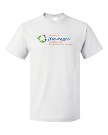 Muskegon Montessori Academy for Environmental Change Logo Light Unisex White Blank with Depth