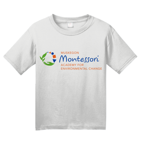 Muskegon Montessori Academy for Environmental Change Logo Light Youth White Blank with Depth