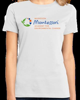 Muskegon Montessori Academy for Environmental Change Logo Light T-shirt