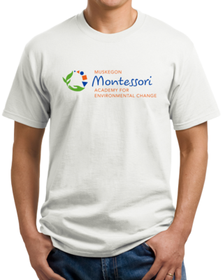 Muskegon Montessori Academy for Environmental Change Logo Light T-shirt