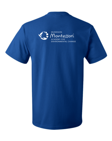 Muskegon Montessori Academy for Environmental Change Explorer Unisex Royal Blank with Depth