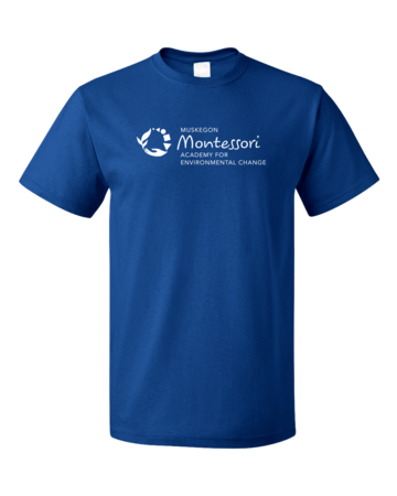 Muskegon Montessori Academy for Environmental Change Logo Dark Unisex Royal Blank with Depth