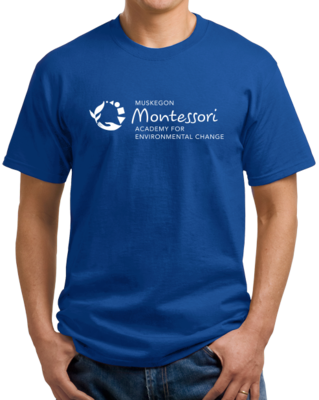 Muskegon Montessori Academy for Environmental Change Logo Dark T-shirt