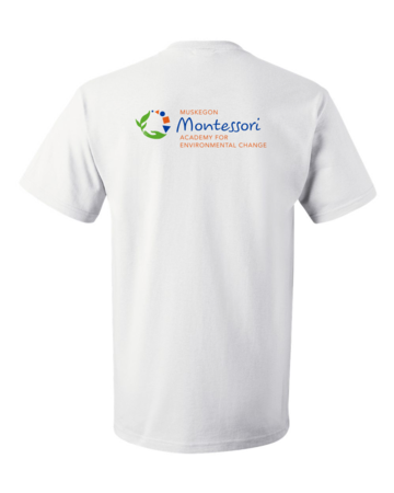 Muskegon Montessori Academy for Environmental Change Explorer Unisex White Blank with Depth