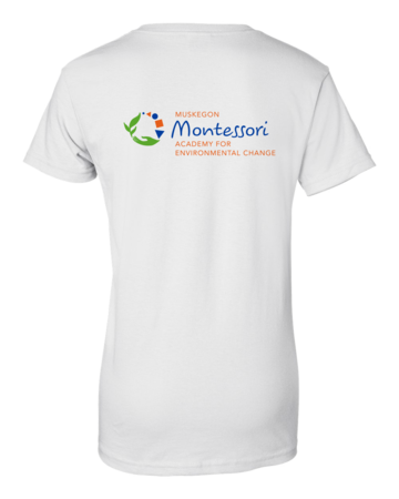 Muskegon Montessori Academy for Envrionmental Change Explorer Ladies White Blank with Depth