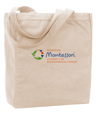 Muskegon Montessori Academy for Envrionmental Change Tote Natural Blank with Depth