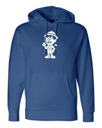Muskegon Montessori Academy for Envrionmental Change Explorer Pullover Hoodie Royal Blank with Depth