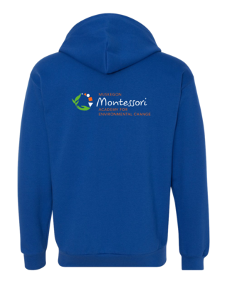 Muskegon Montessori Academy for Environmental Change Logo Zip Hood