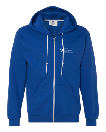 Muskegon Montessori Academy for Envrionmental Change Explorer Zip Hoodie Royal Blank with Depth