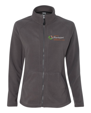 MMAEC Ladies' Microfleece Full-Zip Jacket Grey Blank with Depth