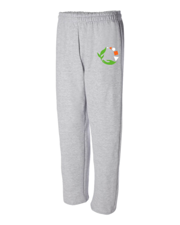 MMAEC Adult Open Bottom Sweatpants Grey Blank with Depth