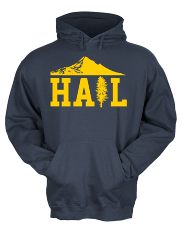 Portland U of M Club Hail Pullover Hoodie Navy Blank with Depth
