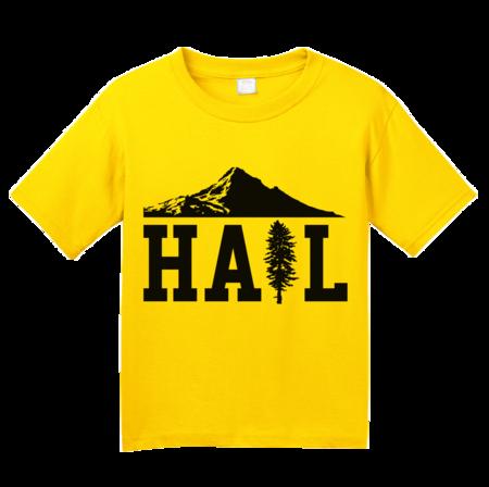 Portland U of M Club Hail Youth Yellow Blank with Depth