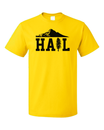 Portland U of M Club Hail Unisex Yellow Blank with Depth