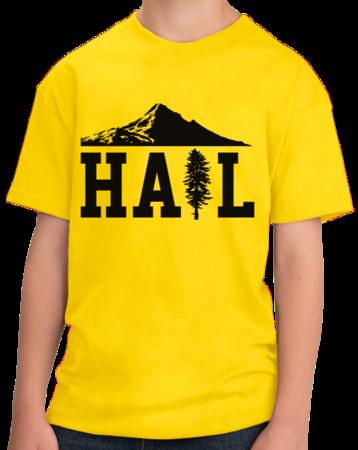Portland U of M Club Hail Youth Yellow Stock Model Front 1 Thumb