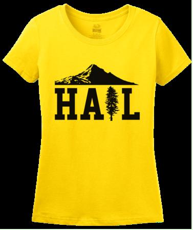 Portland U of M Club Hail Ladies Yellow Blank with Depth