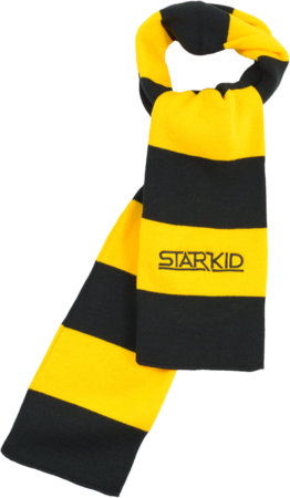 Gold and Black Rugby Scarf