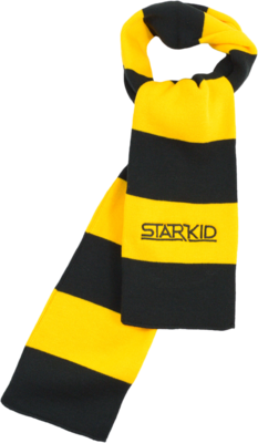 Gold and Black StarKid Winter House Scarf