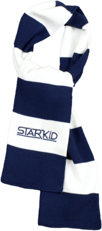 Navy and White Rugby Scarf