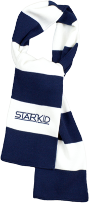 Navy and White  StarKid Winter House Scarf