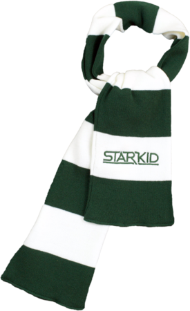 Green and White Rugby Scarf