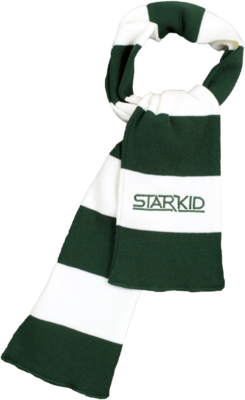 Green and White StarKid Winter House Scarf