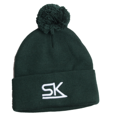 Forest Green Pom Winter Hat