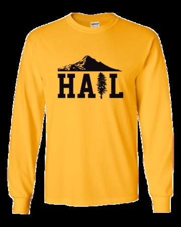 Portland U of M Club Hail Light Long Sleeve Unisex Long Sleeve Gold Blank with Depth