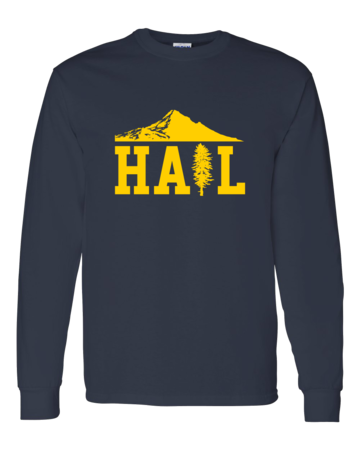 Portland U of M Club Hail Dark Long Sleeve Unisex Long Sleeve Navy Blank with Depth