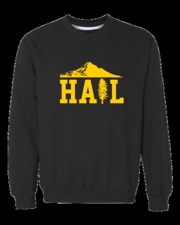 Portland U of M Club Hail Dark Crewneck Sweatshirt Black Blank with Depth