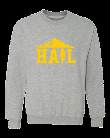 Portland U of M Club Hail Dark Crewneck Sweatshirt Grey Blank with Depth