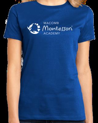 Macomb Montessori Academy White Logo T-shirt