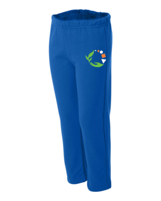 Macomb Montessori Academy Green, White, and Orange Logo Sweatpant