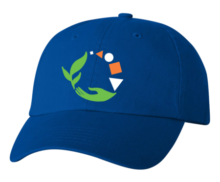 Macomb Montessori Academy Green, White, and Orange Logo Low Profile Hat Royal Blank with Depth