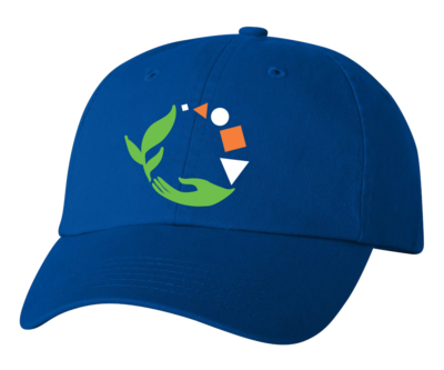 Macomb Montessori Academy Green, White, and Orange Logo Hat